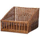 Natural Rectangular Wicker Display Basket - 18