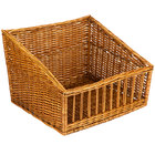 Natural Rectangular Wicker Display Basket - 18