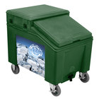 IRP 3100005 Forest Green Ice Caddy 100 lb. Mobile Ice Bin with Custom Graphic