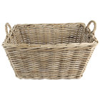 Ash Rectangular Wicker Display Basket with Handles - 23