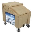 IRP 3100002 Tan Ice Caddy 100 lb. Mobile Ice Bin with Custom Graphic
