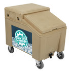 IRP 3100002 Tan Ice Caddy 100 lb. Mobile Ice Bin with Custom Graphic