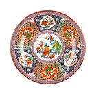 Peacock 6 inch Round Melamine Plate - 12/Pack