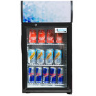 Avantco CLM52 Black Countertop Display Refrigerator with Swing Door and Merchandising Panel
