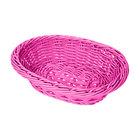 GET WB-1503-PI 9 inch x 6 3/4 inch x 2 1/2 inch Designer Polyweave Pink Oval Basket - 12/Case