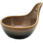 Oneida L6753059943 Rustic 2 oz. Chestnut Porcelain Small Tapas Spoon / Dish - 72/Case