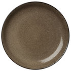 Oneida L6753059133C Rustic 8 1/4 inch Chestnut Porcelain Round Deep Coupe Plate - 24/Case