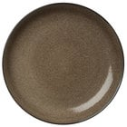 Oneida L6753059133 Rustic 8 1/2 inch Chestnut Porcelain Round Coupe Plate - 24/Case