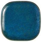 Oneida F1468994001 Studio Pottery Blue Moss 9 7/8 inch Square Porcelain Plate - 12/Case