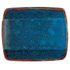 Oneida F1468994115S Studio Pottery Blue Moss 5 1/2 inch Square Porcelain Sushi Plate - 36/Case
