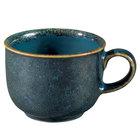 Oneida F1468994525 Studio Pottery Blue Moss 3.625 oz. Porcelain Espresso Cup - 24/Case
