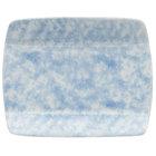Oneida F1463060115S Studio Pottery Cloud 5 1/2 inch Square Porcelain Sushi Plate - 36/Case