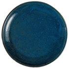 Oneida F1468994282 Studio Pottery Blue Moss 10 5/8 inch Porcelain Round Deep Plate - 12/Case