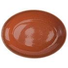 Oneida F1493025787 Terra Verde Cotta 29.5 oz. Porcelain Oval Bowl - 24/Case