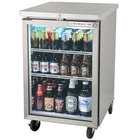 Beverage-Air BB24HC-1-G-S 24 inch Stainless Steel Back Bar Refrigerator with 1 Glass Door - 115V