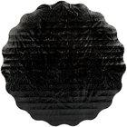 Enjay SW-614RSBEMB 6 1/4 inch Black Laminated Corrugated Cake Circle - 25/Pack