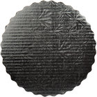 Enjay SW-10RSBEMB 10 inch Black Laminated Corrugated Cake Circle - 25/Pack