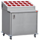 Steril-Sil ENC36-18RP-RED Stainless Steel Silverware Cart with 18 Red Silverware Cylinders