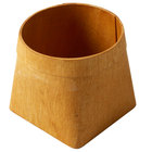 American Metalcraft PW5 5 inch Square Natural Poplar Wood Basket
