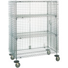 Metro SEC55DCQ QwikSLOT Mobile Standard Duty Wire Security Cabinet 53 inch x 27 inch x 68 inch