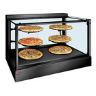 Hatco IHDCH-45 Black 45 inch Full Service Heated Display Warmer with Sliding Doors and Humidity Control - 208V