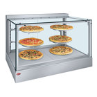Hatco IHDCH-45 Stainless Steel 45 inch Full Service Heated Display Warmer with Sliding Doors and Humidity Control - 240V
