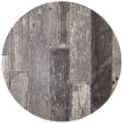 BFM Seating RG48R SoHo 48 inch Rustic Gray Round Indoor / Outdoor Tabletop