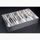 4 Compartment Stainless Steel Cutlery Box