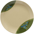 GET 207-5-TD Japanese Traditional 10 1/2 inch Plate with Wide Rim - 12/Case
