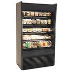 Structural Concepts Oasis B42-QS Black 45 1/2 inch Narrow Depth Air Curtain Merchandiser Refrigerator - 19.46 Cu. Ft., 120V