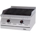 Garland GD-30RBFF Designer Series Natural Gas 30 inch Radiant Charbroiler with Flame Failure Protection - 75,000 BTU
