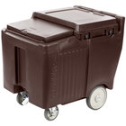 Cambro ICS125LB131 SlidingLid™ Dark Brown Portable Ice Bin - 125 lb. Capacity