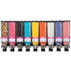 "Rosseto SD3100 Bulkshop Basic Candy Merchandiser Shelf with 9 Canisters - 48"" x 17 3/4"" x 21"""