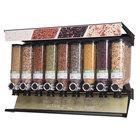 "Rosseto SD3232 Bulkshop Standard Dry Food Merchandiser Shelf with 9 Canisters - 48"" x 20 3/4"" x 30 3/8"""