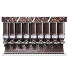 "Rosseto SD3211 Bulkshop Premium Coffee Merchandiser Shelf with 9 Canisters - 48"" x 20 3/4"" x 30 3/8"""