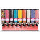 "Rosseto SD3021 Bulkshop Standard Candy Merchandiser Shelf with with 9 Canisters - 48"" x 20 3/4"" x 30 3/8"""