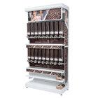 "Rosseto GK1111 Bulkshop Free Standing Coffee Merchandising Gondola with Canisters - 50"" x 25 13/16"" x 108"""