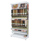 Rosseto GK1131 Bulkshop Free Standing Natural Foods Merchandising Gondola with Canisters - 50 inch x 25 13/16 inch x 108 inch