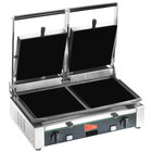 Cecilware TSG-2F Double Panini Sandwich Grill with Flat Surfaces - 19 3/4 inch x 10 inch Cooking Surface - 240V, 3000W
