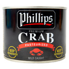 Phillips 1 lb. Can of Wild Caught Pasteurized Ready to Eat Lump Crab