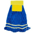 18 oz. Yellow Microfiber String Mop Head with Scrubber