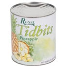 Regal #10 Can Pineapple Tidbits in Natural Juice - 6/Case