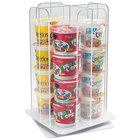 Cal-Mil 1539-12 Clear Acrylic 4-Section Revolving Cereal Cup Organizer