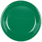 Creative Converting 28112031 10 inch Emerald Green Plastic Banquet Plate - 20 / Pack
