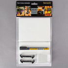American Metalcraft TAGA6BL 6 inch x 4 inch Mini White Chalk Cards and Marker Display Kit   - 20/Pack