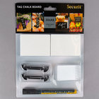 American Metalcraft TAGA8BL 3 inch x 2 inch Mini White Chalk Cards and Marker Display Kit - 20/Pack