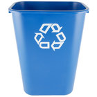 Rubbermaid FG295773BLUE 41 Qt. Blue Recycling Rectangular Wastebasket