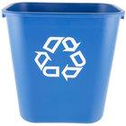 Rubbermaid FG295673BLUE 28 Qt. Blue Recycling Rectangular Wastebasket