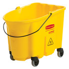 Rubbermaid FG757088YEL WaveBrake® 35 Qt. Yellow Mop Bucket