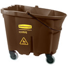 Rubbermaid FG757088BRN WaveBrake® 35 Qt. Brown Mop Bucket